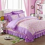 Sucastle,Bettwäsche Eine Vierköpfige Familie Fashion Bedding,Warm Skin,Bed Width:150cm