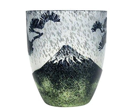 Joetsu Kristall Schnitt Craft Glas Tumbler MT. Fuji und kiyomatsu 1,3Tasse
