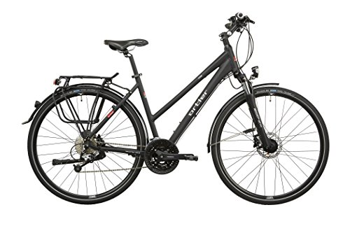 Ortler Chur Damen schwarz matt Rahmengröße 45 cm 2016 Trekkingrad