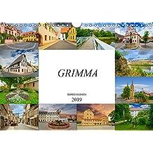 Grimma Impressionen (Wandkalender 2019 DIN A4 quer): Die Stadt an der Mulde, Grimma (Monatskalender, 14 Seiten ) (CALVENDO Orte)