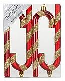 Kunststoff Zuckerstange 14cm 4-Stück Set Rot - Mix//Christbaumschmuck Weihnachtskugeln Weihnachtsschmuck Weichnachten Deko Mini Klein Christbaum Tannenbaum Weihnachtsbaum Bunt Mix