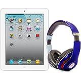 Pack iPad 2 64Go Wifi 4G Blanc avec casque Bluetooth Bleu