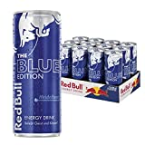 Red Bull Energy Drink Blue Edition mit Heidelbeer Geschmack, 12er Pack, Einweg (12 x 250 ml)
