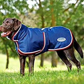 Weatherbeeta Parka 1200D Deluxe Dog Coat - Navy/Red/White - Size: 50Cm