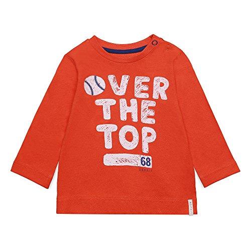 ESPRIT Baby-Jungen Langarmshirt RK10022, Orange (Red Orange 383), 92