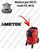 VC 40U Automatic Saug Motor Ametek Staubsauger für Hilti