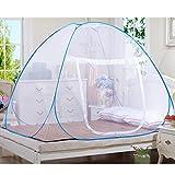 Mosquito Nets Popup Dome Zelt Design Outdoor mongolischen Jurte Kuppel Netto freie Montage und Falten Netze geeignet für Erwachsene Kinder und Babys Insekten verhindern Air Flow Pop up Zelt Vorhänge R (180*200*150cm)