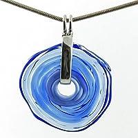 Kette mit Anhänger in Blau aus Murano-Glas | Glas-Schmuck Wechsel-Schmuck | Unikat personalisiert handmade handgemacht | Tolles Geburtstagsgeschenk | Einzigartiges Geschenk zu Weihnachten