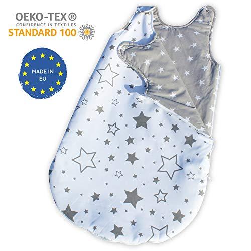 Gadbey® | sacco nanna invernale 2.5 tog | neonato 0-24 mesi unisex e reversibile | 100% cotone oeko-tex® cucito a mano | ipoallergenico traspirante | made in eu