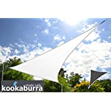 Toldo Vela Económico Kookaburra Blanco Polar Triangular 4.2mx4.2mx6.0m (Transpirable 185g)