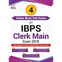 Disha Publication 4 Mock Test Series for IBPS Clerk Main Exam 2018 (Email Delivery in 2 Hours - No CD)