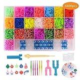 FORMIZON 4400 Loom Bänder Set, Bunt Loom Bands Starter Box, DIY Gummibänder und Haken, Rainbow Loombänder für Armbänder, Kinderspielzeug für Geburtstagsgeschenk, Weihnachten