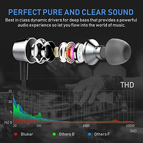 Zoom IMG-2 blukar auricolari ear cuffie stereo