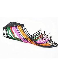Cadena para gafas, cordón para gafas, correa para el cuello de cristal, soporte para gafas, 12 unidades (color al azar)