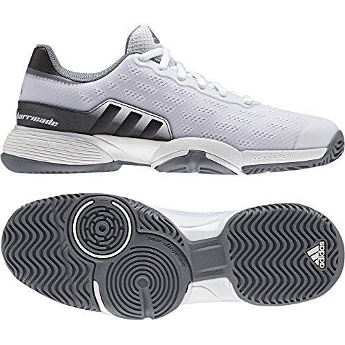 adidas Barricade 2016 XJ Scarpe da Tennis Unisex - Bambini, Bianco (Ftwbla/Grpudg/Gris) 32 EU