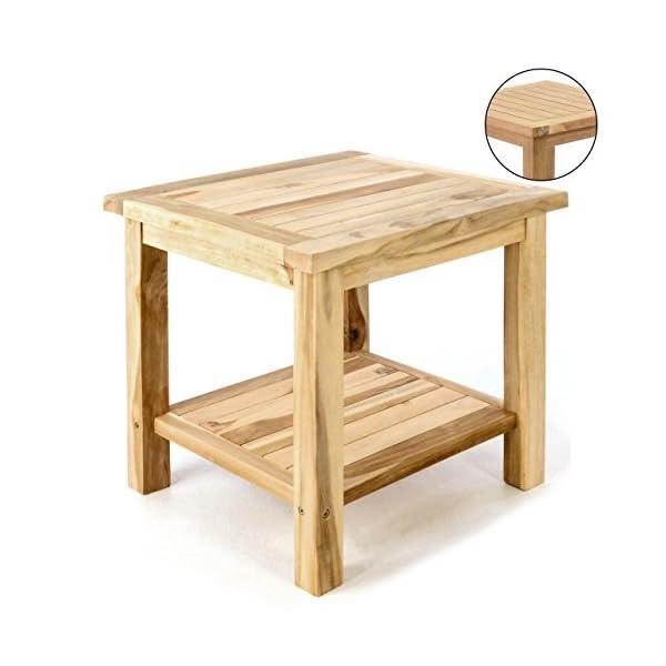 Tisch Balkon Garten.Divero Beistelltisch Blumen Hocker Balkontisch Teak Holz