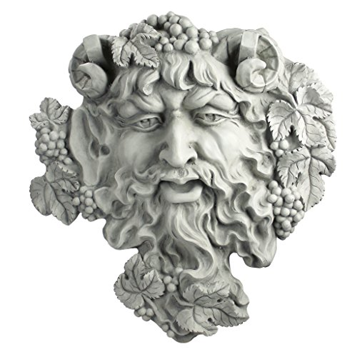Design Toscano OS6120l Sculpture Murale Homme Bacchus Dieu du Vin , Blanc Cassé, 9 x 47 x 48.5 cm