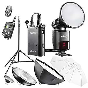 Walimex Pro Light Shooter 360 Kit Déclencheur radio + Parapluie + Diffuseur Octagon + Parapluie réflecteur + Trépied
