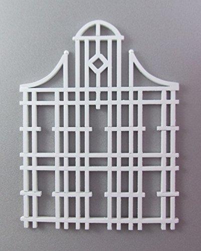 Preisvergleich Produktbild Puppenhaus Miniatur 1:12 Maßstab Garten Zubehör Weiße Holz Rankgitter Hoch