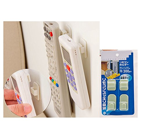 Malayas®Selbstklebende Haken TV Fernbedienung Haken Klimaanlage Fernbedienung Sticky Haken Sensoren Wandhaken für Badezimmer Küche Schlafzimmer TV Video 4 stück Max Gewicht 0,5 kg zu tragen (Am Besten Am Radio)