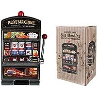 Preisvergleich für Spardose und Spielautomat XXL einarmiger Bandit mit Sound und Licht Höhe 38 cm