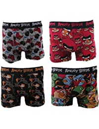 Boxers Homme Lot de 4 Angry Birds