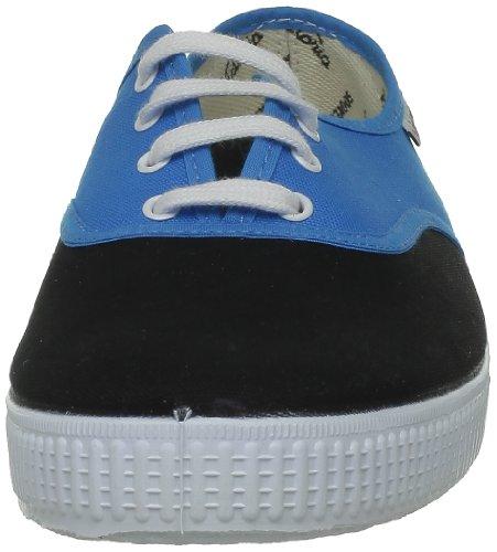 Victoria Inglesa Bicolor, A bout rond mixte adulte Bleu (Turquesa Negro)