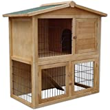 conejera, jaula para conejos, 90 x 56 x 100 cm, con rampa