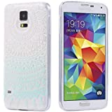 ECENCE Samsung Galaxy S5 i9600 S5 Neo S5 Plus SLIM TPU CASE SCHUTZ HÜLLE HANDY TASCHE COVER MANDALA CLEAR TRANSPARENT DURCHSICHTIG Mandala türkis 23040408