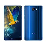 Elephone S8?6.0 Inch 2K Display Full Screen?Unlocked 4G Smartphone with Android 7.1.1, Helio X25 Deca Core 2.5GHz, Front Fingerprint, 4GB RAM+64GB ROM 21.0MP+8.0MP Dual Camera Dual SIM Dual Standby, Slim Body with 2.5D Curved Glass Display and 3D Curved Glass Back, 4000mAh Battery SIM Free Mobile Phones - Blue