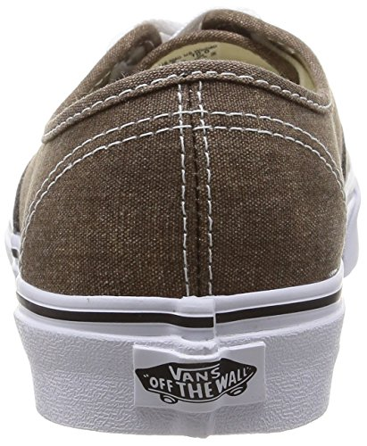 Vans U Authentic Sneakers, Unisex Adulto Marrón/Negro (Black/Desert Palm)