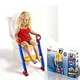Toiletten-Trainingshilfe für Kinder, für den Übergang von Töpfchen zu Toilette, Trittleiter und Sitz-Aufsatz, platzsparend