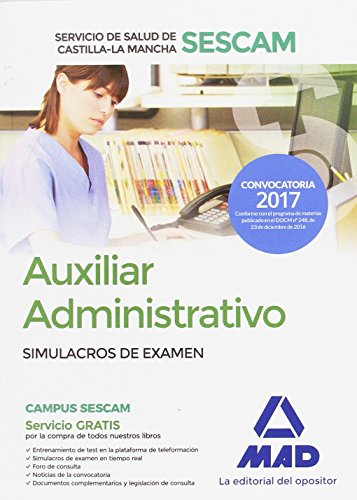 Auxiliar Administrativo del Servicio de Salud de Castilla-La Mancha (SESCAM). Simulacro de examen