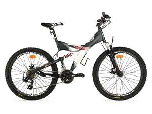 KS Cycling adultes Vélo VTT Fully G de Acid RH 50cm 26'' Noir - Noir