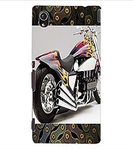 ColourCraft Amazing Bike Design Back Case Cover for SONY XPERIA M4 AQUA
