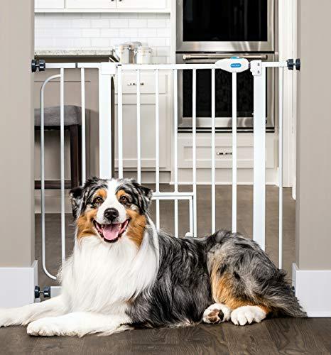 Carlson Pet Products Carlson 0930PW extra breites Schutzgitter mit Haustiertür -