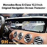 LFOTPP Navigation Protection d'écran pour Mercedes-Benz Classe S Système de Navigation Film Protection en Verre Trempé Et Tableaux de Bord Protection d'écran - 9H Anti-rayures