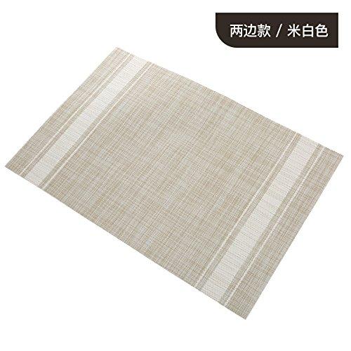 QWERWHH Imperméable et PVC Tapis Plateau antidérapant (6 pièce) 45 * 30cm, Blanc
