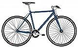 Nostalgie Rennrad Fixie Forelle BLAU 28/53 1-Gang blau/schwarz
