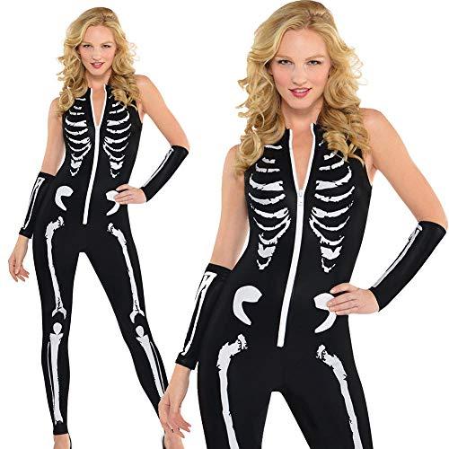 Für Skelett Sexy Schicke Erwachsene Kostüm Damen - Averyshowya Halloween Kostüm Für Kostüm für Erwachsene Sexy Skelett verbunden Kleider Party Performance Kleid Cosplay Kleidung @ D_XL