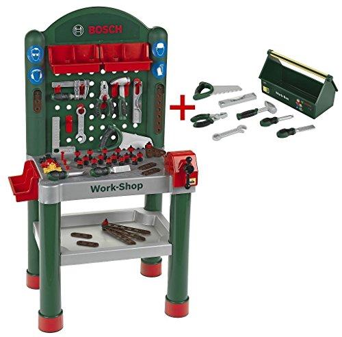 Preisvergleich Produktbild Theo Klein 8307 Exklusives Set bestehend aus Werkbank 8320 Und Work-Box 8573