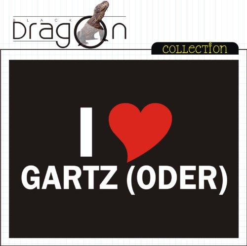 T-Shirt mit Städtenamen - i Love Gartz (Oder) - Herren - unisex Schwarz