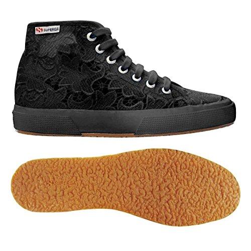 Superga 2795-Macramew, Sneaker, Donna full black