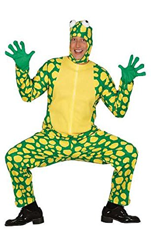 Frosch Kostüm für Erwachsene zu Karneval Oder Halloween Gr. M-L, Größe:L (Für Erwachsene Frosch Kostüm)