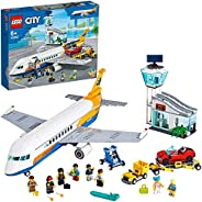 LEGO City Airport Passenger Airplane 60262 building set with plane, truck and convertible car , Toy for kids 6