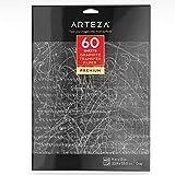 Carta Carbone Arteza, Carta Copiativa In Grafite, Confezione Da 60 Fogli 22,9 X 33 Centimetri, Carta Trasferibile Per Ricalco A4