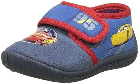 Cars Jungen Boys Kids Velcro Low Houseshoes Unten, Bleu (G.Blue + D.C.Blue + Red), 30 EU