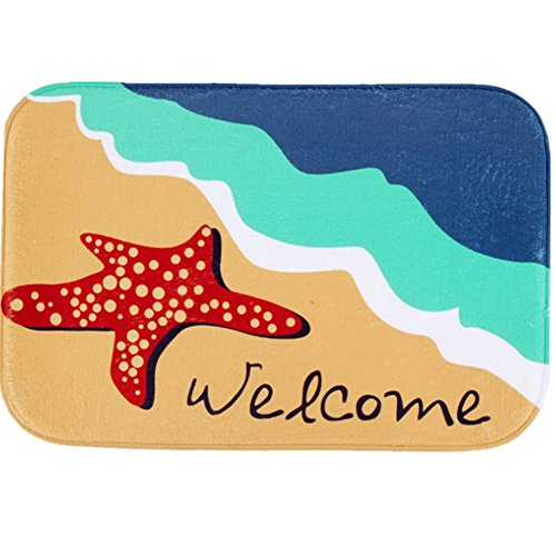 O-C Starfish beach Outdoor Indoor Antiskid Absorbent Bedroom Livingroom Bath Mat Bathroom Shower Rugs Doormats
