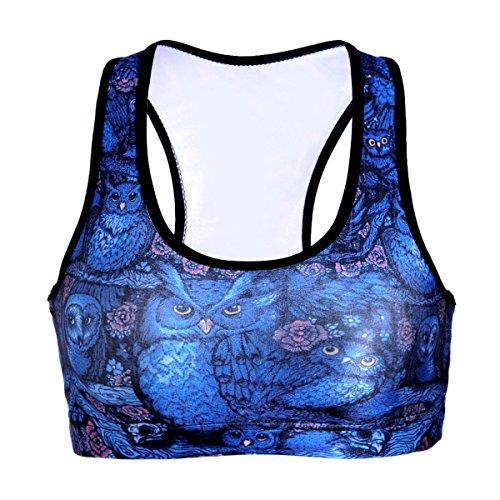 WKAIJCC Femme Sport Gilet Soutien-gorge Sous-vêtements Soutien-gorge Sans Bague En Acier Impression Pas De Trace Super Récolte Confortable Respirant A
