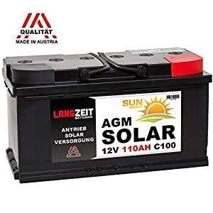 solarbatterie 12v 110ah agm gel batterie wohnmobil. Black Bedroom Furniture Sets. Home Design Ideas